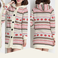 Christmas Snowflake Thick Needle Loose Sweater