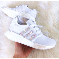 ADIDAS Women Running Sport Casual Shoes NMD Sneakers Shining White