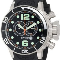 Invicta Men's 6915 Corduba Collection Interceptor Chronograph Black Polyurethane Watch