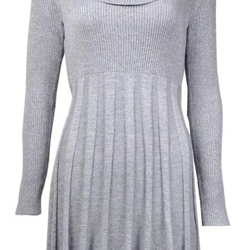 Calvin Klein Women's Cowl Neck Fit & Flare Sweater Dress