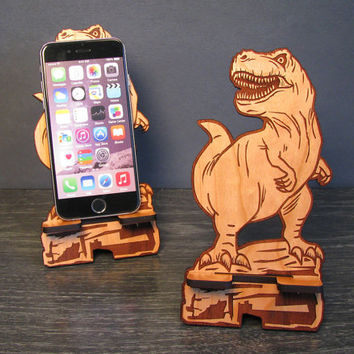 Jurassic World Inspired T Rex Dinosaur iPhone Dock Works With Any Phone - Tyrannosaurus Rex - Fits iPhone 6, iPhone Plus, iPhone 5 , Galaxy