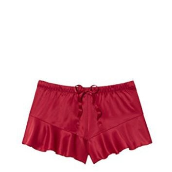 Victoria's Secret Sleepwear Satin Ruffle Short Vibrant Red