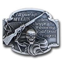 Belt Buckle - I'll Give Up My Gun - Belt Buckle