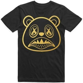Baws Logo Sneaker Tees Shirt - GOLD INK