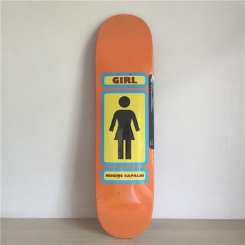 "GIRL 8"" Canadian Maple Orange Skateboard Deck"