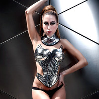 metropolis corset sci fi costume harness burlesque fetish burning man cyberpunk futuristic clothing divamp couture