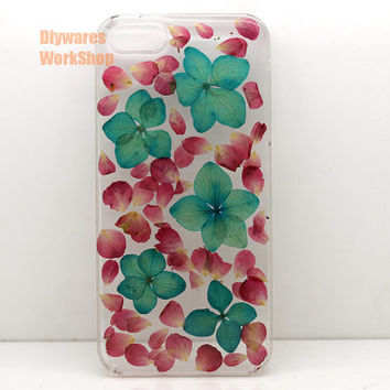 unique iphone 5 case iphone 4 case iphone 4s case designer iphone 5 case Press flower floral leafs lucky Real Flowers Resin Clear Hard