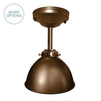 "Dome 7"" Metal Shade Pendant Light- Downrod"
