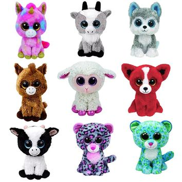 Ty Beanie Boos Big Eyes Small Unicorn Plush Toy Doll Kawaii Stuffed Animals Collection Lovely A wide variety of styles