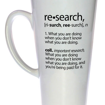 Research Definition Coffee or Tea Mug, Latte Size