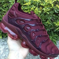 NIKE Air Max Vapormax  Plus Tn Ultra Colorful 3M Sneakers Women Men Sports Shoes B-CSXY Burgundy