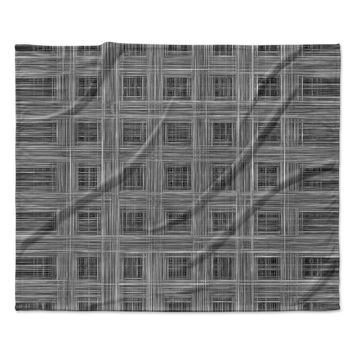 "Bruce Stanfield ""Ambient 10"" Gray Pattern Fleece Throw Blanket"