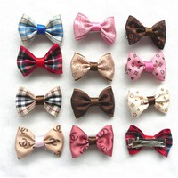 11Color/lot Classic Pet Bows For All Cats Dog Bow Hairpin Headdress Dog Bows Dog Hair Bows Dog Headdress Pet Accessories PL145