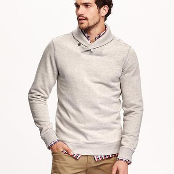Old Navy Mens Shawl Collar Fleece Pullover