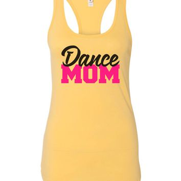 Womens Dance Mom Grapahic Design Fitted Tank Top