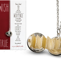 WISH LOCKET NECKLACE & PENCIL