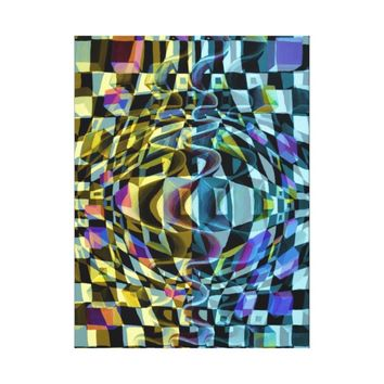 Optical illusion distortion canvas print