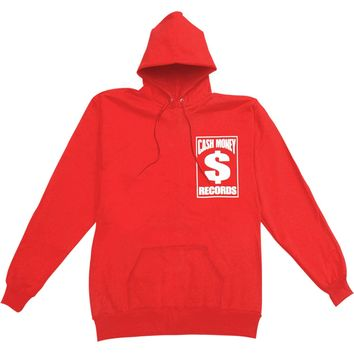 Cash Money Records Men's  Dollar Sign Hooded Sweatshirt Red