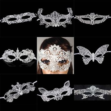 New Girls Halloween Ball Mask Women white Black Sexy Lady Lace Masks for Masquerade Party Fancy Dress Costume
