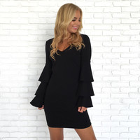 Triple Bell Little Black Dress