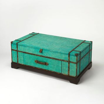 Butler Anabel Green Raffia Trunk Coffee Table