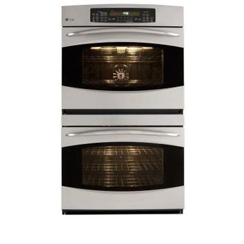 GE Profile 30 in. Double Electric Wall Oven plus Self-Cleaning with Convection in Stainless Steel-PT956SRSS at The Home Depot