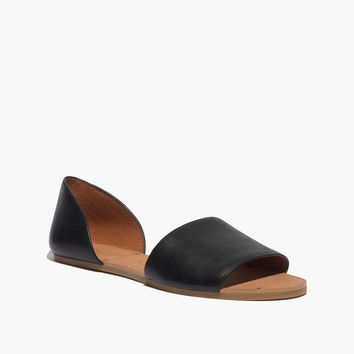 The Thea Sandal in Black Leather