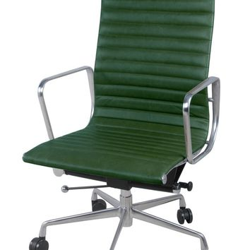 Langley High Back Office Chair, Vintage Asparagus