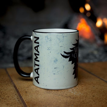 YOUR NAME personalised Game of Thrones mugs House Stark mug white Winter is coming ceramic porcelain cup gift white mug