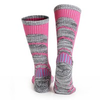 Ski Socks -WEIERYA Womens 2 Pack Performance Skiing Socks, Snowboard Socks Pink