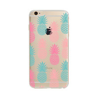 For iPhone case pineapple Summer Fruit Series Transparent TPU scratch-proof cases for iPhone 6 6S 5 5S SE 6plus 6splus