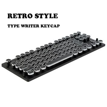87/108 ABS Keys Round Keycap Retro Typewriter Keycap Steampunk Dreamer Personality Keycap For Wired USB Mechanical Keyboard