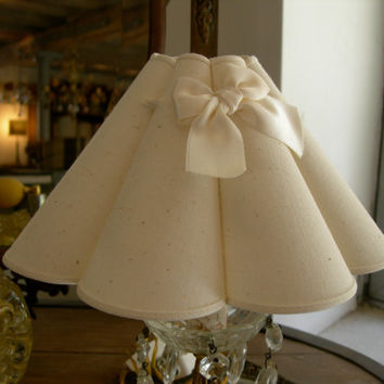 Chandelier Clip On Mini Lamp Shade Marguerite Wall Sconce White Lampshade - All Handmade