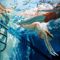 """Dive in, float: Matted 7.5x9.5"""" Archival Print - Signed"""