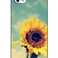SUPER-CASE Print Phone Case - Protect Shell Plastic Case Cover DESIGN with Sunflower for Apple Iphone 5 5S