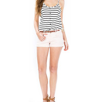Black and White Buttoned Striped Camisole Top