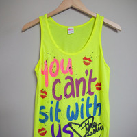 Mean Girls - You Can't Sit With Us Tank Top (XS-XL)