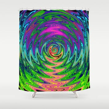 Psychedelic Journey of Colours Shower Curtain by Webgrrl