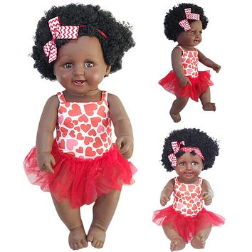 African American Play Dolls Lifelike 50cm For Girls