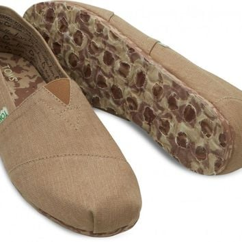 TOMS Sand Brown Earthwise PLUSFoam Men's Classics Slip-On Shoes,
