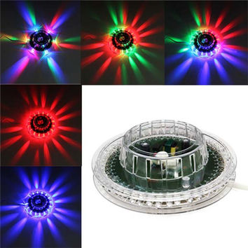 Hot Sale Newest LED Colorful Sunflower Mini RGB Stage Light Bar Disco Spotlight Party DJ Club Pub Music