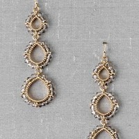 HAZELWOOD BEADED DROP EARRINGS