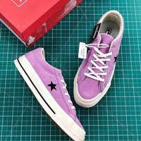 Converse One Star Pro Suede Low Top Purple Shoes - Best Online Sale