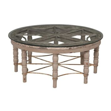 Artifacts Round Cocktail Table Taupe