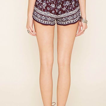 Ornate Print Shorts