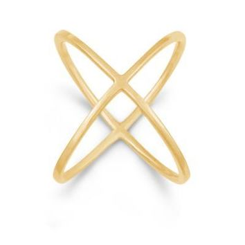 X Ring, Yellow Gold