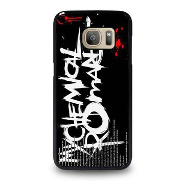 my chemical romance lyric samsung galaxy s7 case cover  number 1