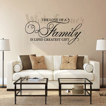 rta230 Lettering Family Love Sign Quote Words Gift Living room Bedroom Wall Decal Vinyl Sticker Decals Art Decor Design