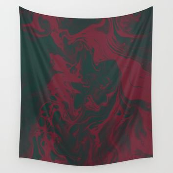 Cranberry and Evergreen Wall Tapestry by DuckyB