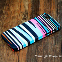 Rainbow Zebra 3D-Wrap iPhone 5S Case iPhone 5 Case iPhone 5C Case iPhone 4S Case iPhone 4 Case